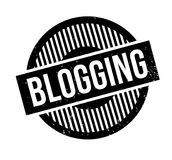 Blogging rubber stamp. Grunge design with dust scratches. Effects can be easily removed for a clean, crisp look. Color is easily changed Royalty Free Stock Image