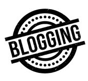 Blogging rubber stamp. Grunge design with dust scratches. Effects can be easily removed for a clean, crisp look. Color is easily changed Stock Image