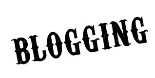 Blogging rubber stamp. Grunge design with dust scratches. Effects can be easily removed for a clean, crisp look. Color is easily changed Royalty Free Stock Images