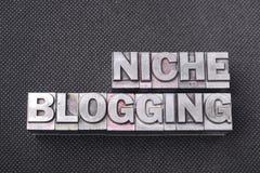 Blogging Schwerpunktshandbuch der Nische Lizenzfreie Stockbilder