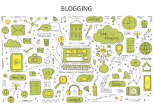 Blogging and social media Stock Photography