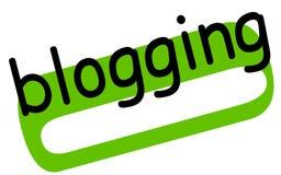 Blogging sticker stamp. Blogging sticker. Authentic design graphic stamp. Original series Stock Photography