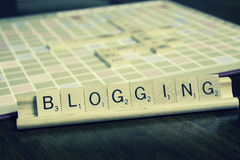 Blogging - termes de vente d'affaires Images libres de droits