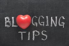 Blogging Tippherz Stockbild