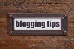 Blogging tips label Royalty Free Stock Photo