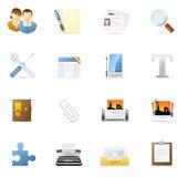 blogging vecto интернета иконы 2 установленное иллюстрация вектора