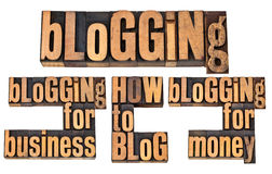 Blogging voor geld en zaken Stock Afbeeldingen
