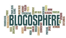 Blogging Words. Vector illustration of blogging related words isolated on white background stock illustration