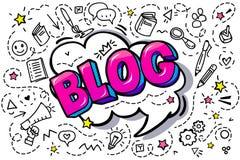Bloggordbubbla vektor illustrationer