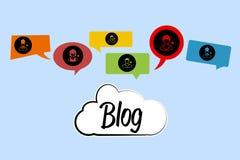 Bloggraphiken Stockbild