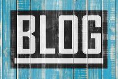 Bloghintergrund auf Täfelung Lizenzfreie Stockbilder