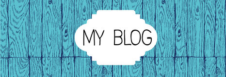 Bloghut mit einer hölzernen Struktur Lizenzfreie Stockbilder
