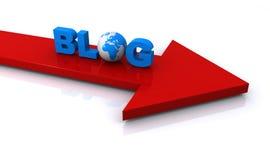 Blogillustration vektor abbildung