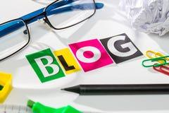 Blogkonzepte Lizenzfreies Stockbild