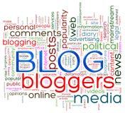 Blogordetiketter stock illustrationer