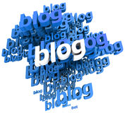 Blogs in blue Stock Images