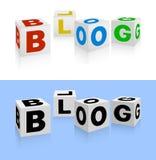 blogsymbol Royaltyfri Foto