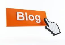 blogsymbol Royaltyfri Bild