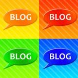 blogsymboler stock illustrationer