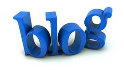 Blogtext Stockbild