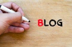 Blogtextkonzept Stockfotos