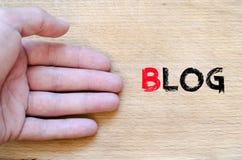 Blogtextkonzept Lizenzfreies Stockfoto