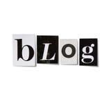 Blogtitel Lizenzfreie Stockbilder