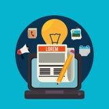 Blogu i blogger środków ogólnospołeczny projekt Obraz Stock