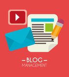 Blogu i blogger środków ogólnospołeczny projekt Fotografia Stock