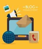 Blogu i blogger środków ogólnospołeczny projekt Fotografia Royalty Free