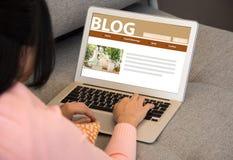 Blogu socjalny środki Zdjęcia Royalty Free