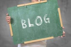 BLOGU tekst pisać na chalkboard Zdjęcie Stock