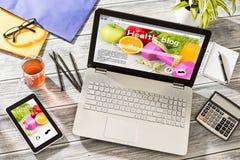 Blogu Weblog Cyfrowy Medialnego słownika Online pojęcie Obrazy Royalty Free