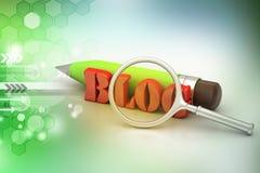 Blogu writing pojęcie Zdjęcie Stock