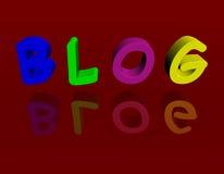 Blogue 3D Fotografia de Stock Royalty Free