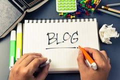 Blogue Imagem de Stock