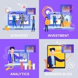 Blogue ajustado do negócio do investimento de Strategy Analytics ilustração stock