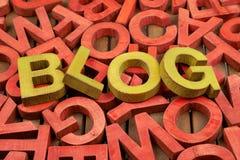 Blogue da palavra feito das letras Fotos de Stock