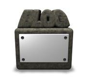 Blogue de pedra Imagens de Stock