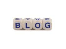 Blogue do registro do Web Fotografia de Stock