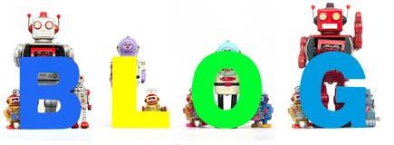 Blogue do robô Imagem de Stock Royalty Free