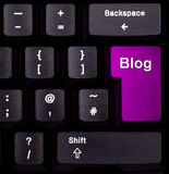 Blogue do teclado fotografia de stock royalty free
