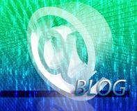 Blogue em linha Fotografia de Stock Royalty Free
