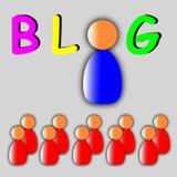 Blogue no mundo ilustração stock