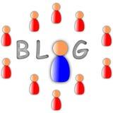 Blogue no mundo ilustração royalty free