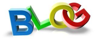 Blogue plástico Imagens de Stock