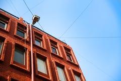 Blogue vermelho que constrói em público na cidade de Jaipur Imagens de Stock Royalty Free