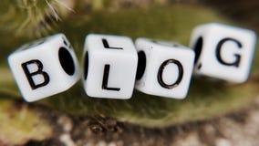 Blogweißbuchstaben Stockbild