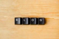 Blogwoord Stock Fotografie