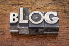 Blogwoord in metaal Royalty-vrije Stock Foto's